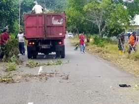 Jaga Kebersihan Lingkungan Babinpotmar Goro Bersama Masyarakat KBN