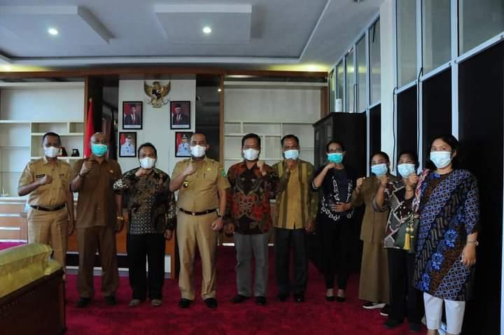 Wabup Inhu  Sambut Hangat Kunjungan Audensi Bimas Kristen Kanwil Propinsi Riau