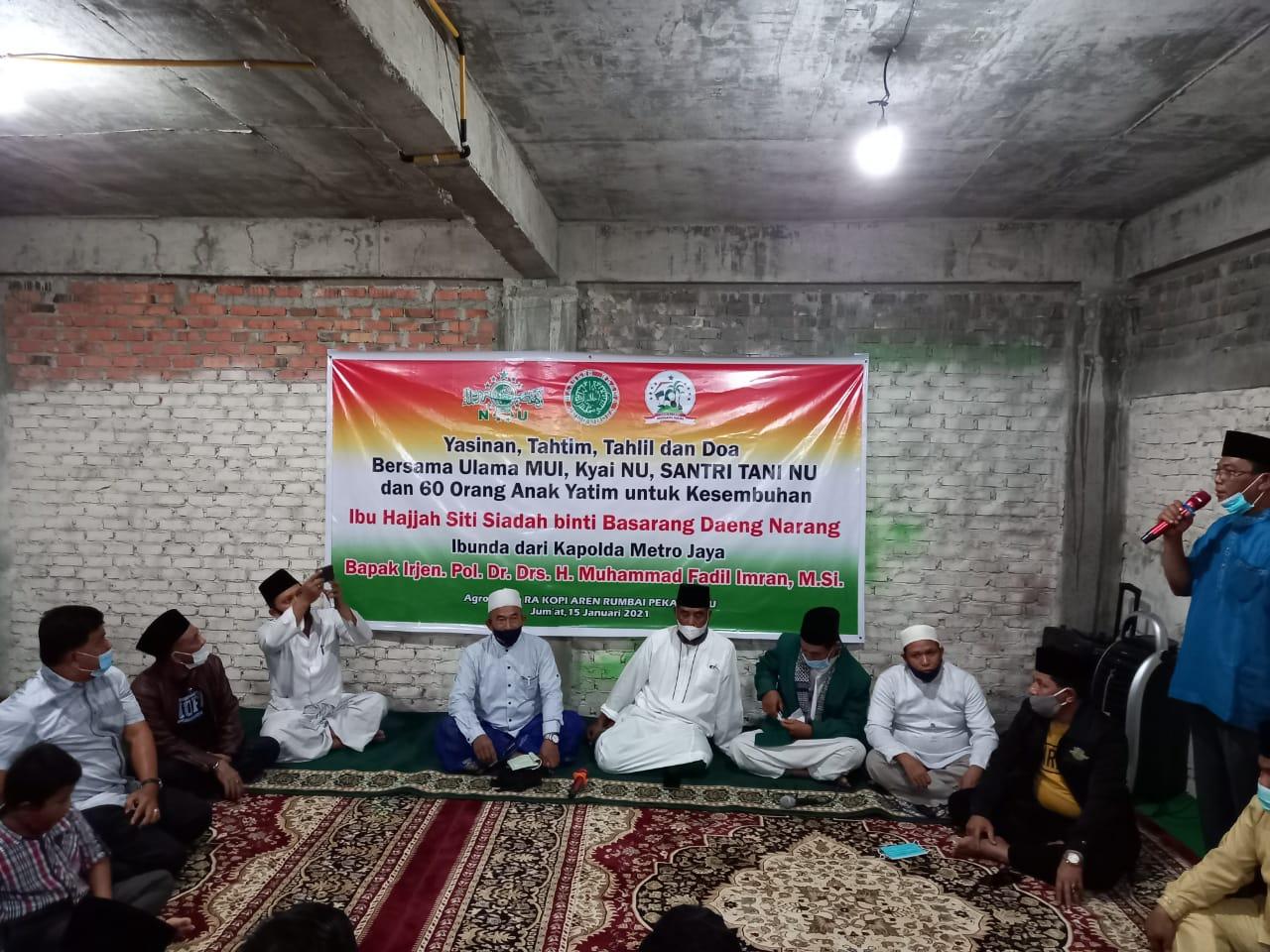 Dari Pekanbaru, SantanNU dan Anak Yatim Berdoa untuk Kesembuhan Ibunda Irjen Pol M Fadli Imron