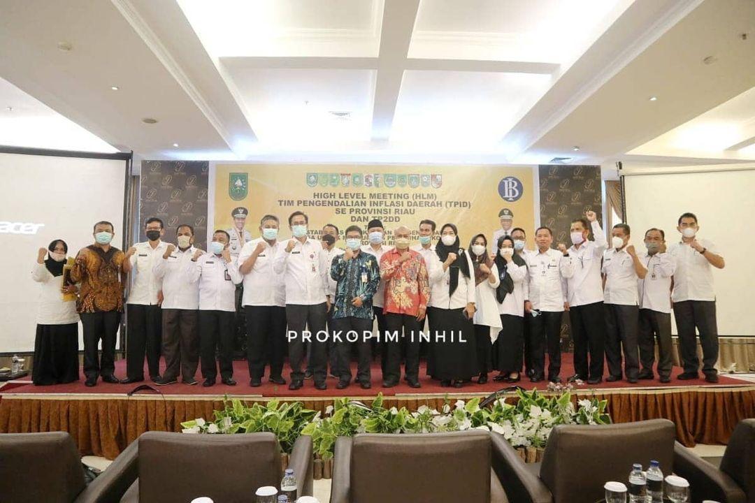 Sekda Drs H Afrizal MP Hadiri HLM TPID Se-Riau dan TP2DD Tahun 2021