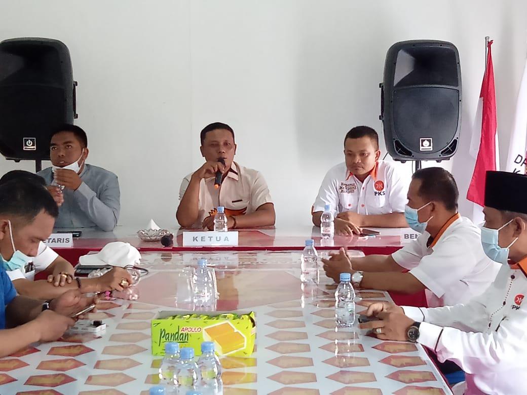 DPD Partai PKS Silaturahmi Ke DPC Partai Gerindra, Akankah Bahas Persiapan Koalisi Pilkada Inhil?