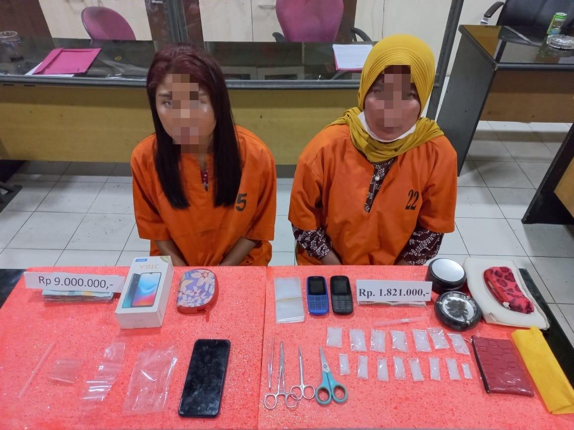 Dua Wanita Cantik di Kecamatan Gaung Menjadi Sindikat Narkotika