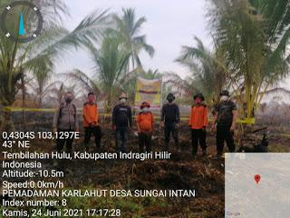 Kebakaranlahan yang Terjadi di wilayah Parit Paran dan Sungai Nibung  Dusun Sungai Nibung, Desa Sungai Intan